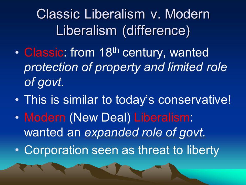 Classic Liberalism v.