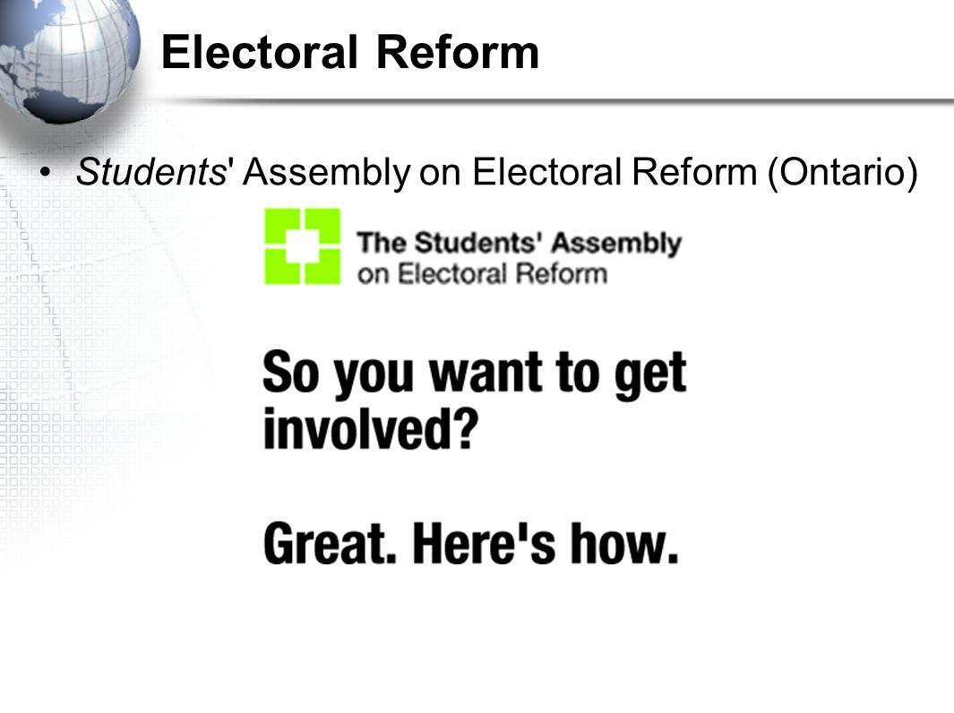 Electoral Reform Students' Assembly on Electoral Reform (Ontario)