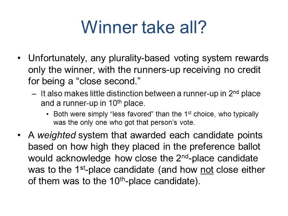 Winner take all.