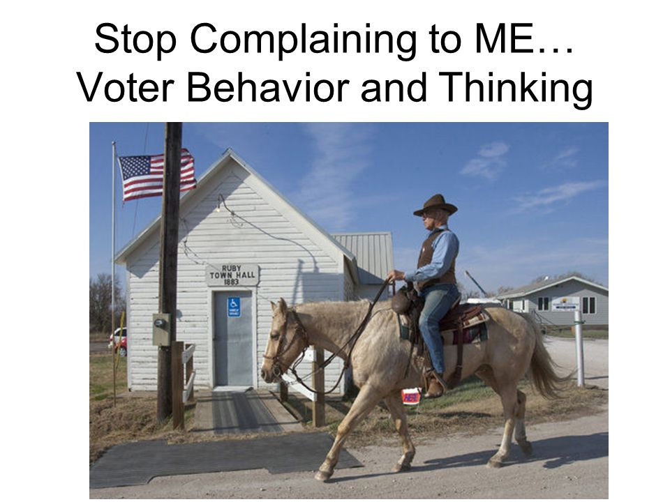 Stop Complaining to ME… Voter Behavior and Thinking