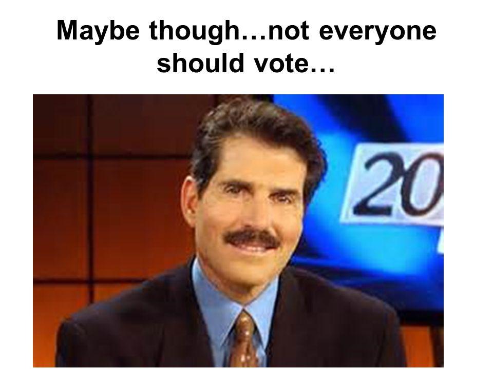 Why Don't People Vote? Breakdown of Reasons