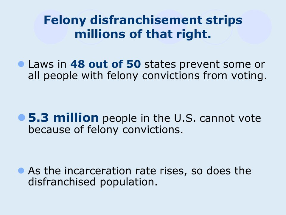 It is only fair to allow people leaving prison to vote.