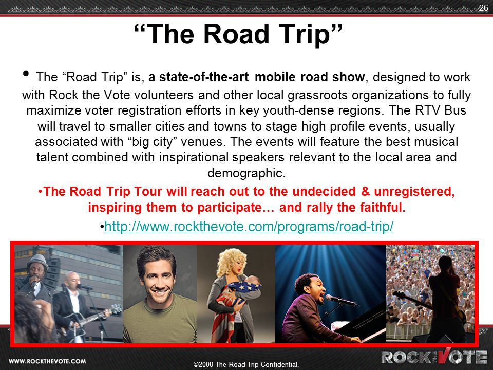 ©2008 The Road Trip Confidential.