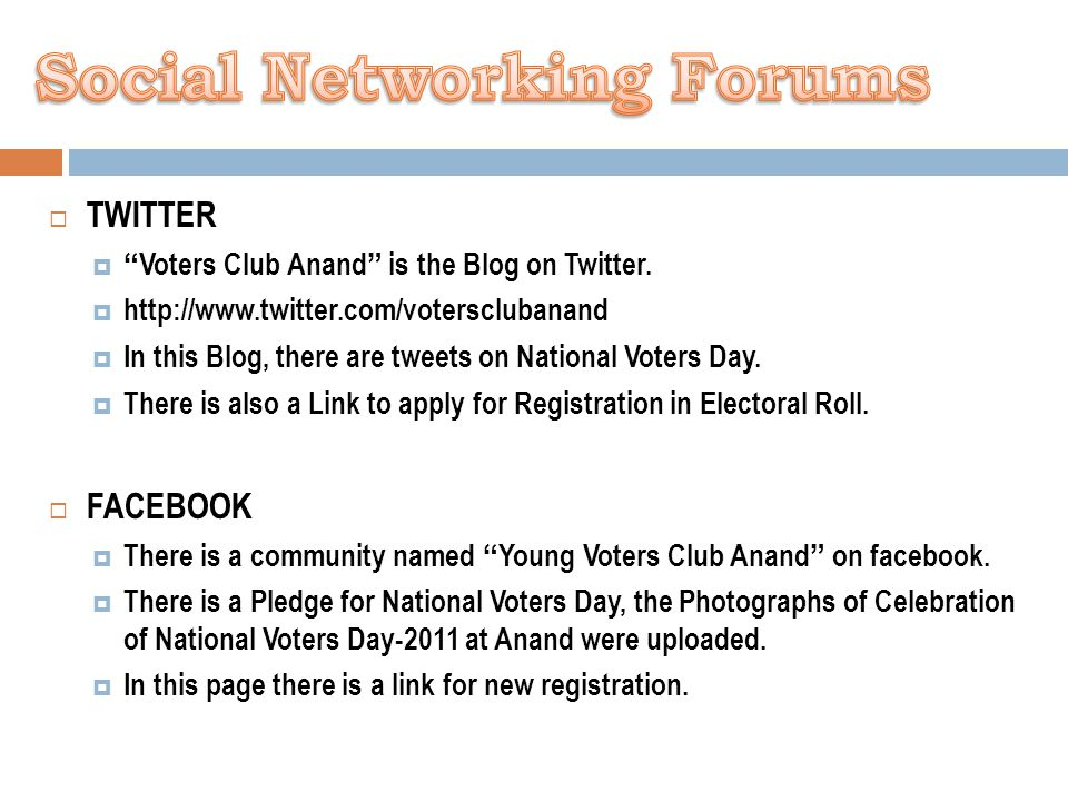  TWITTER  Voters Club Anand is the Blog on Twitter.