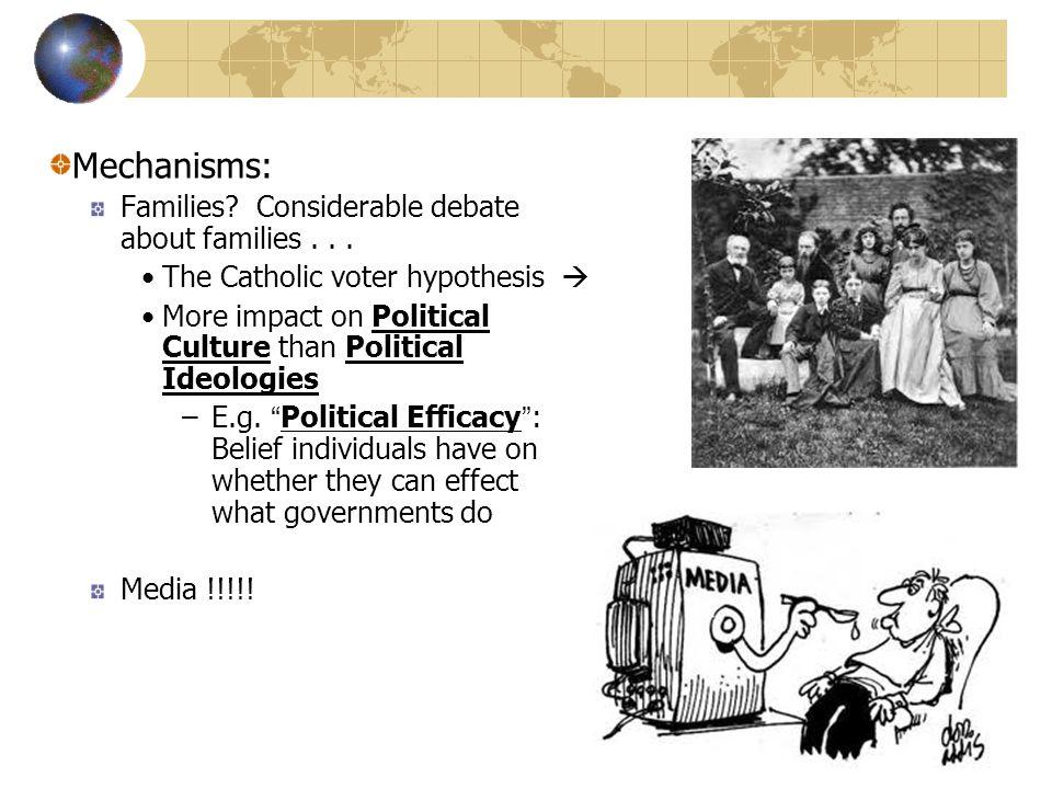 Mechanisms: Families. Considerable debate about families...