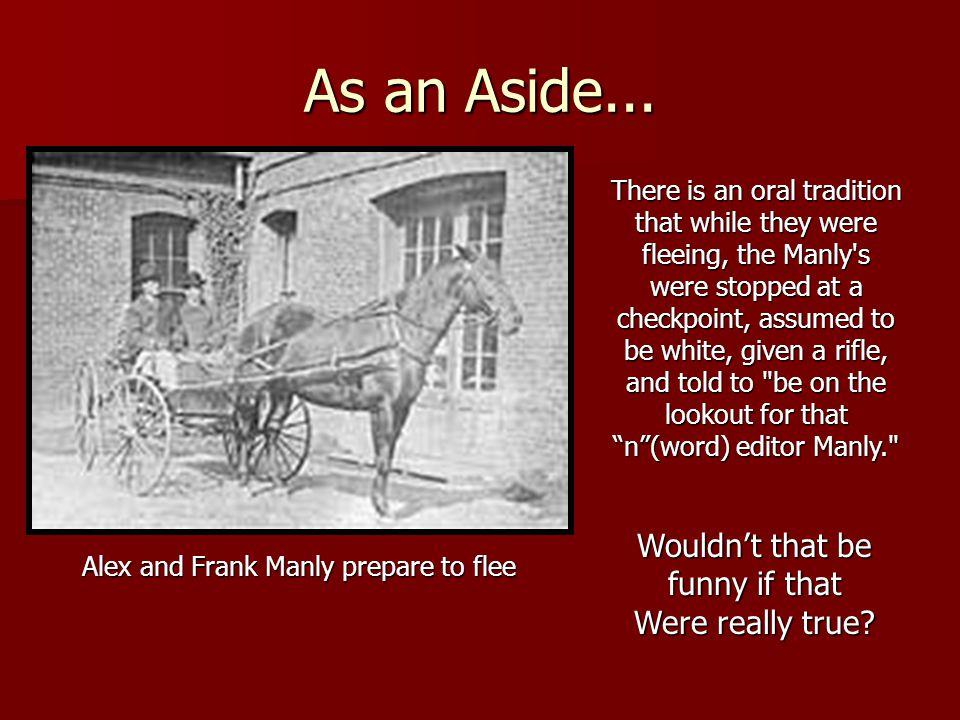 As an Aside...
