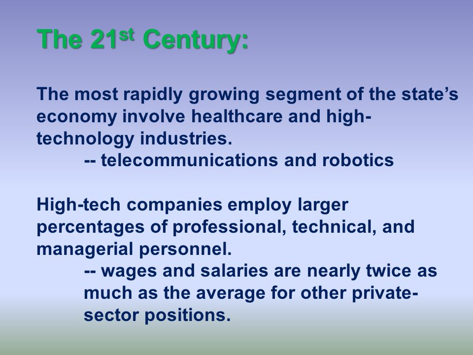 The 21 st Century: The first decade of the new century did not begin well for Texas or for the United States' economy.