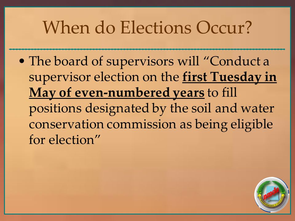 When do Elections Occur.