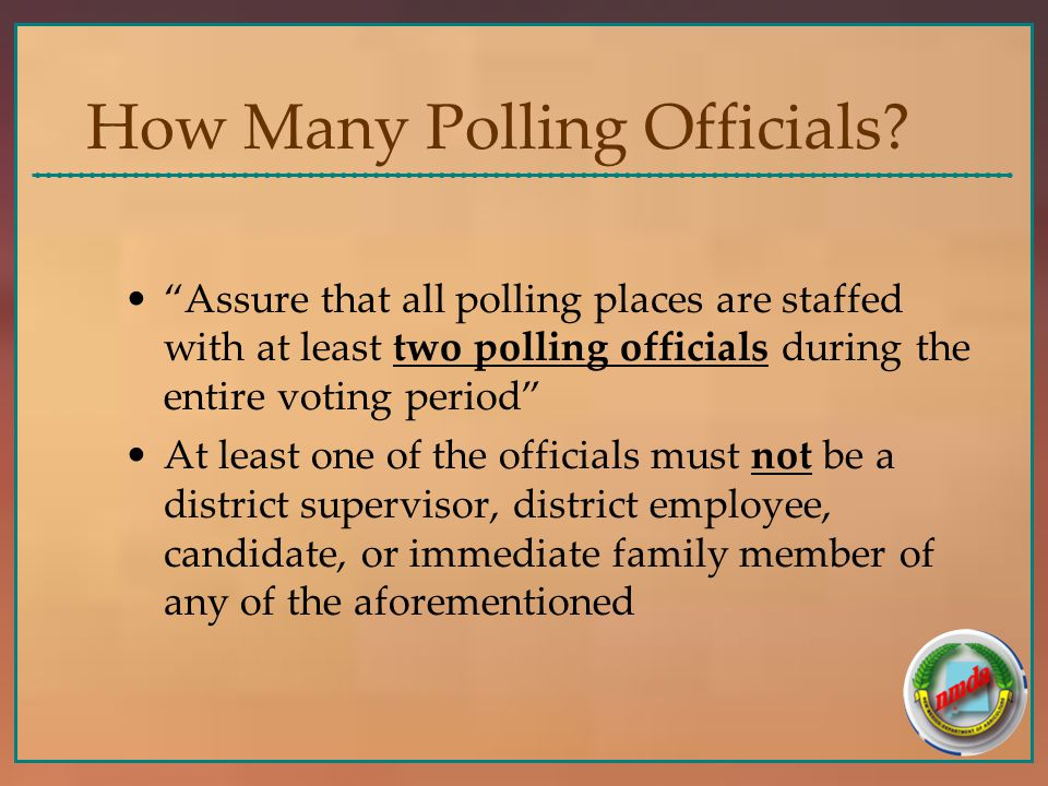 How Many Polling Officials.