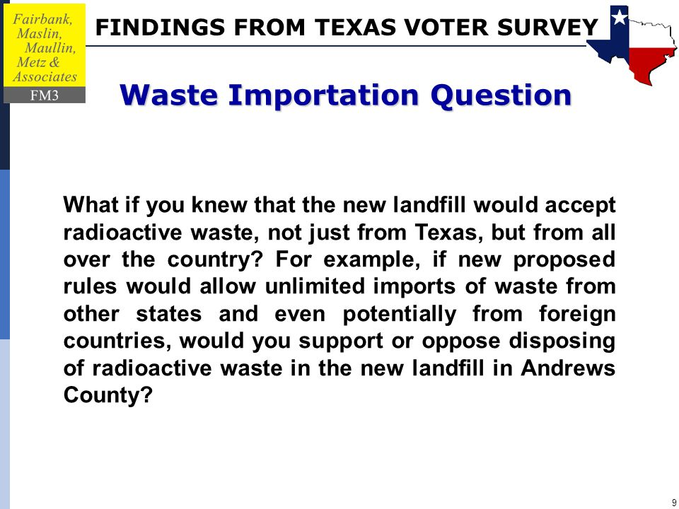 FINDINGS FROM TEXAS VOTER SURVEY 10 10/11/12.