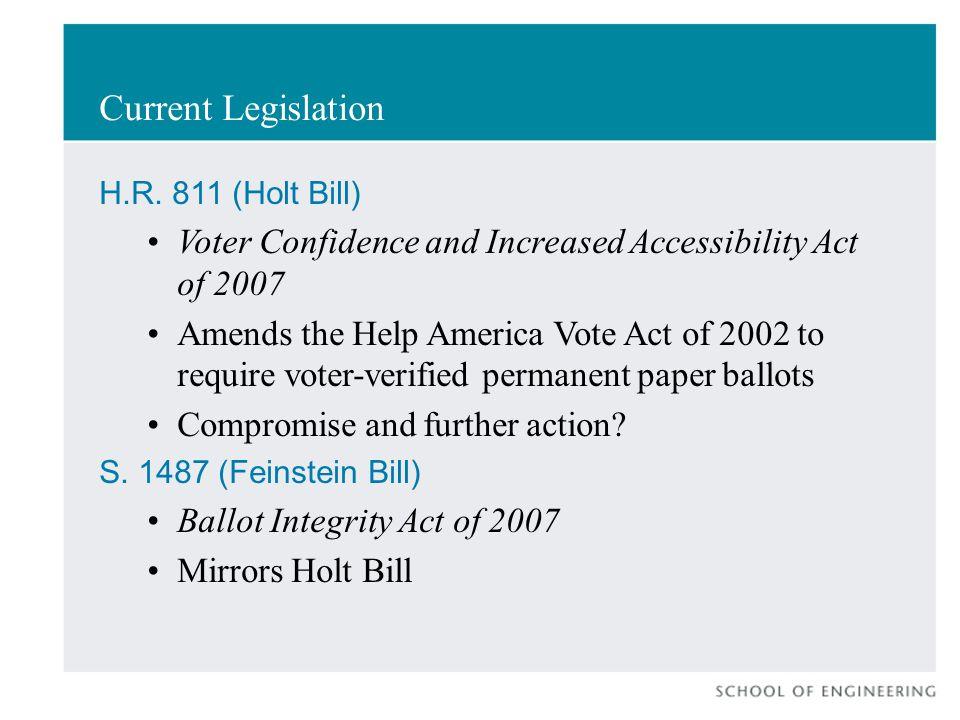 Current Legislation H.R.
