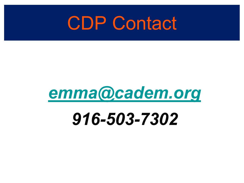 CDP Contact emma@cadem.org 916-503-7302