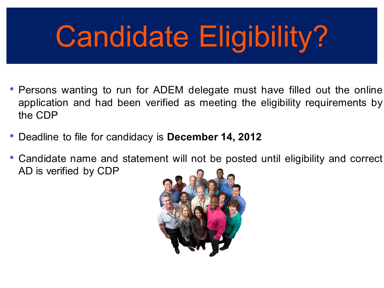 Candidate Eligibility.