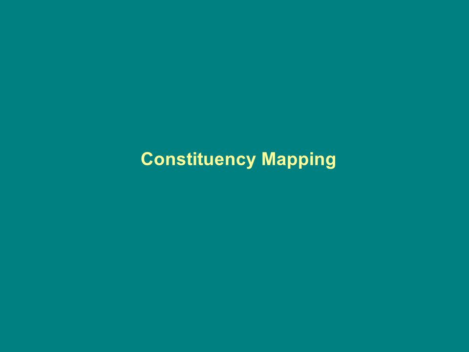 Constituency Mapping
