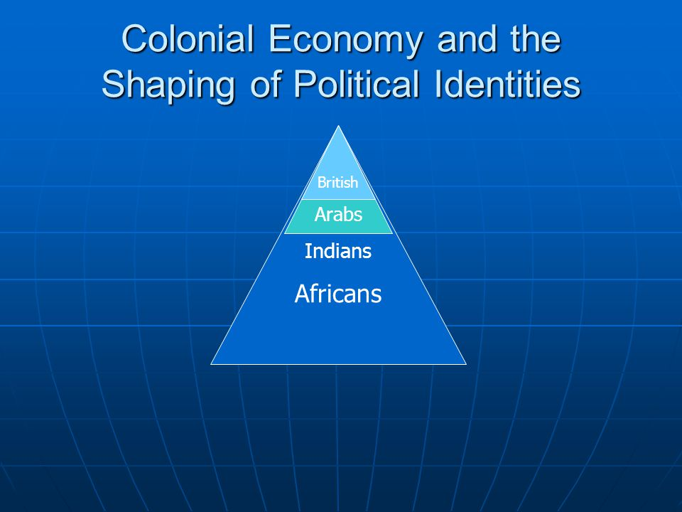 British Arabs Indians Africans Colonial Economy and the Shaping of Political Identities