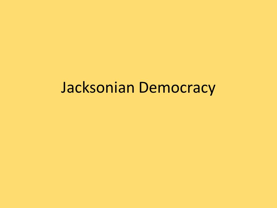 A.The New Democracy 1.New effort among politicians to appeal to to the masses.