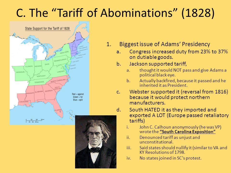 P.Van Buren's Presidency 1.First President born under American flag.