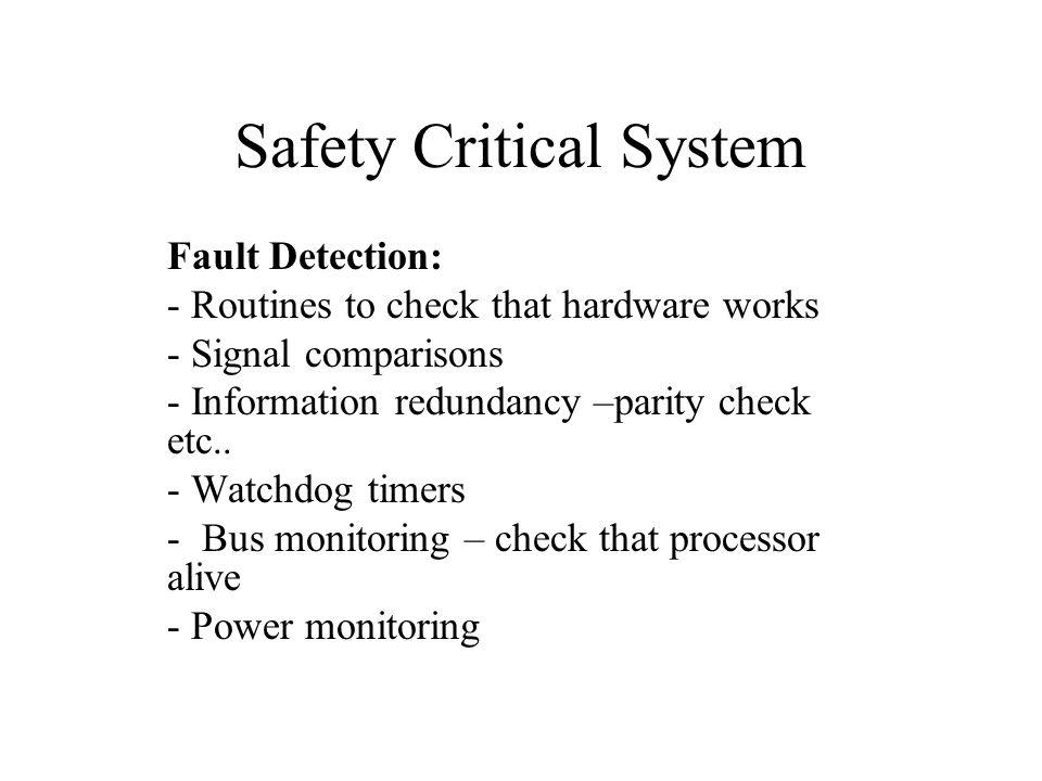 Safety Critical Hardware 3.