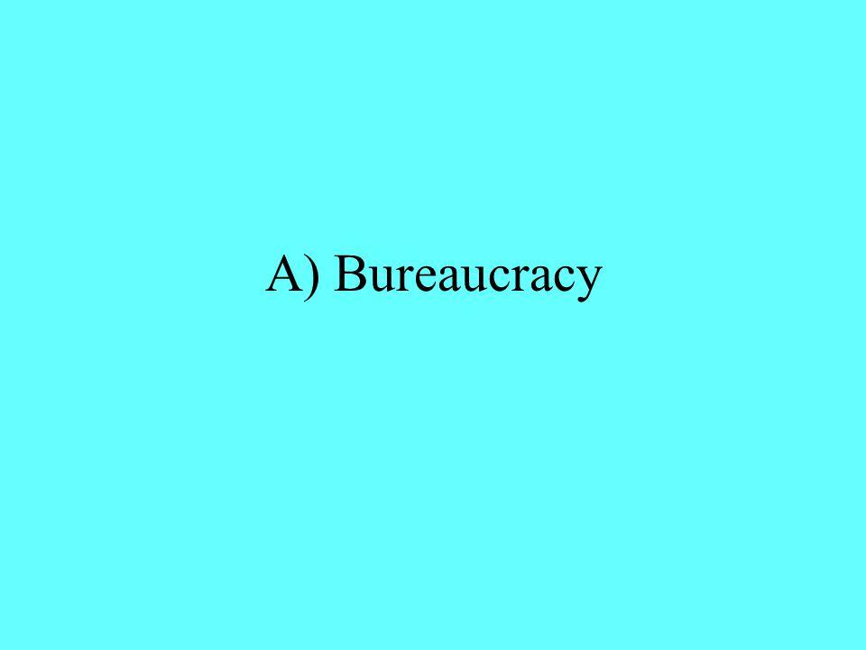 A) Bureaucracy