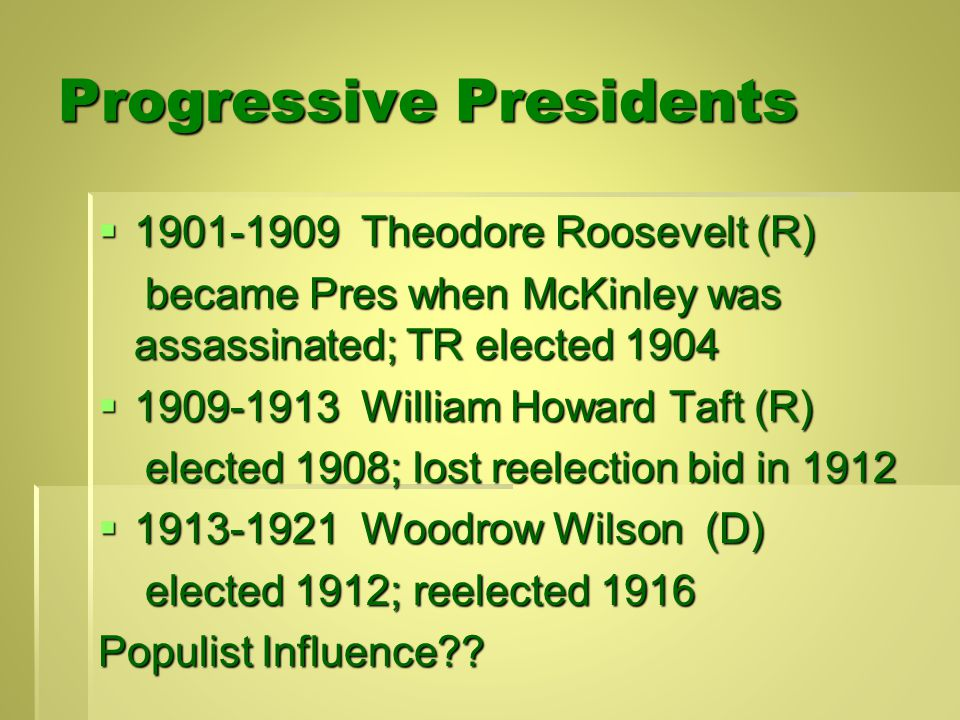 Evaluating the Progressive Era: Political Pros / Cons Accomplishments:  Voting rights protected & participation expanded  Some success against polit.