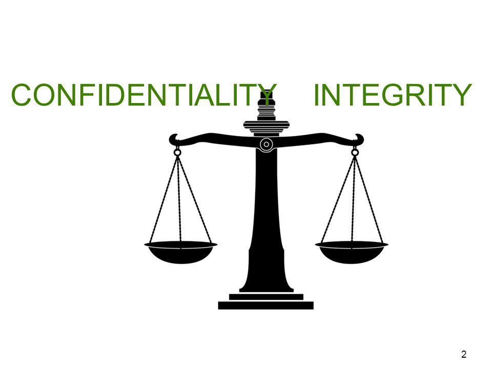 2 INTEGRITYCONFIDENTIALITY