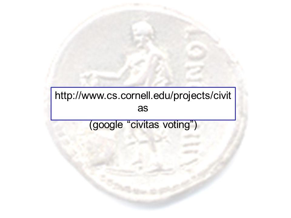 "http://www.cs.cornell.edu/projects/civit as (google ""civitas voting"")"