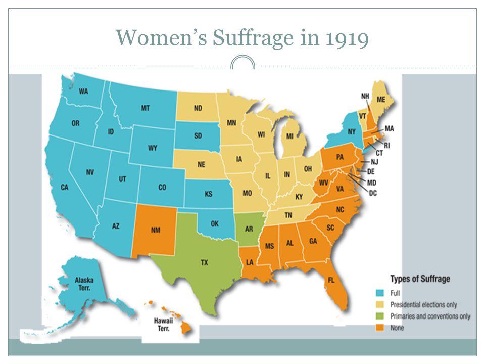 Women's Suffrage in 1919