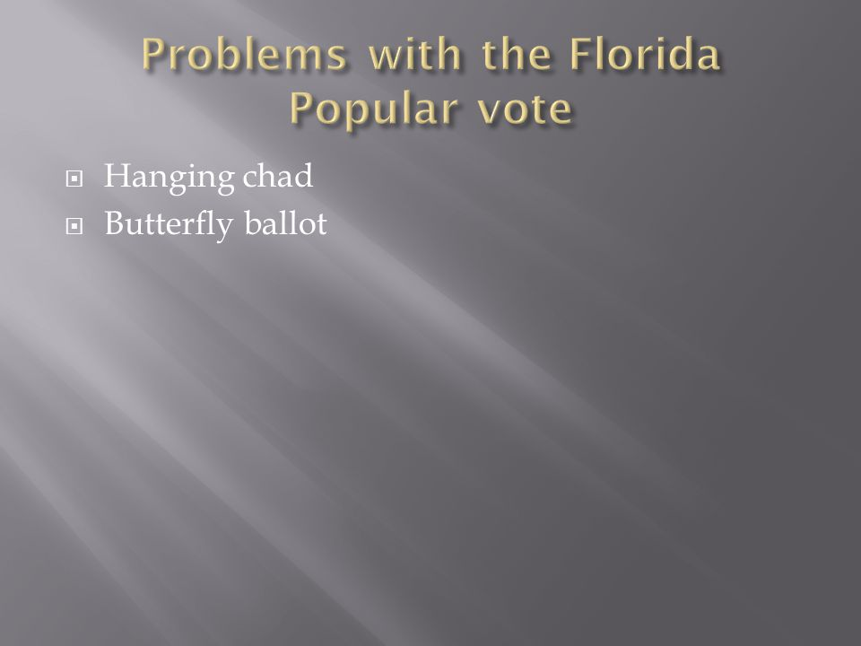  Hanging chad  Butterfly ballot