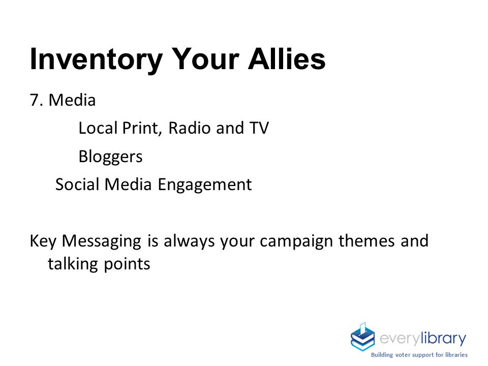 Inventory Your Allies 7.