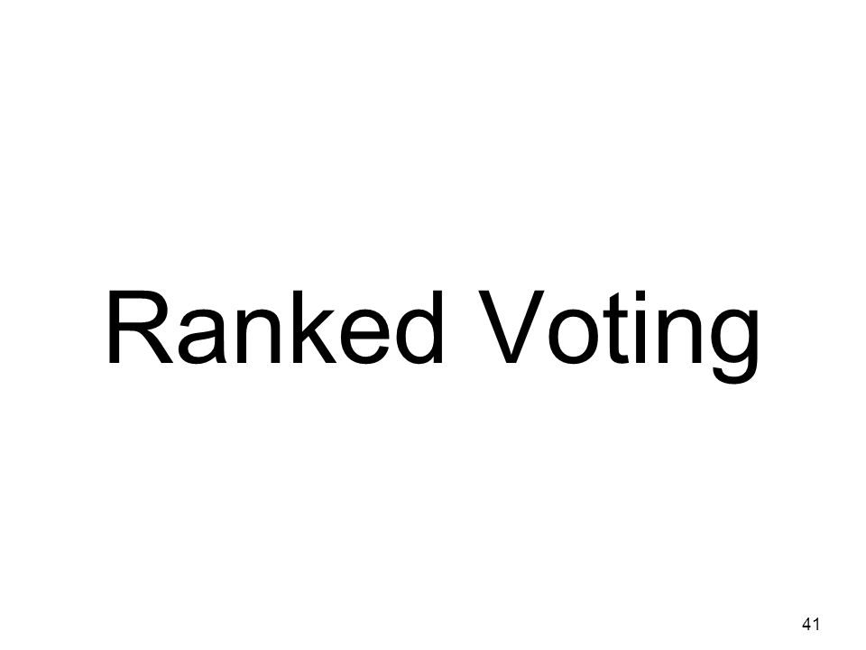 Ranked Voting 41