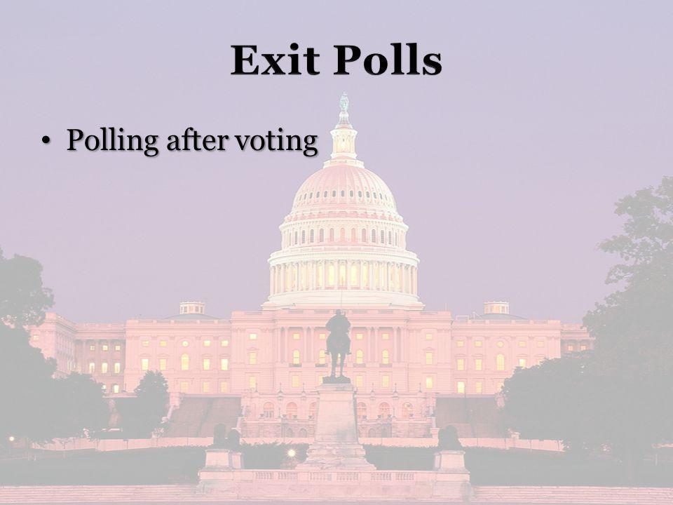 Polling after voting Polling after voting