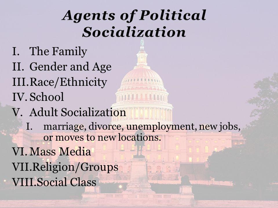 I. I.The Family II. II.Gender and Age III. III.Race/Ethnicity IV.