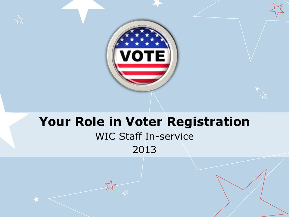 Let's review offering voter registration at Certs and Recerts 1.Ask this question, just as it is written.