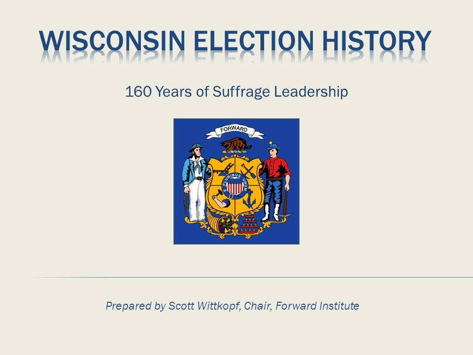  Most other states still had literacy, language, or property requirements  Wisconsin makes historic voting rights expansion:  Every citizen over 21 and state resident for one year eligible to vote  10 day in-district residency requirement  Not convicted of bribery or wagering on elections Governor Philip LaFollette (son of Robert M Fighting Bob LaFollette) addresses the state Legislature