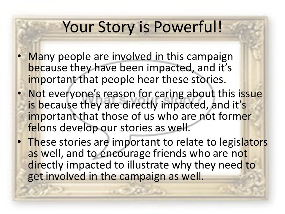 Your Story is Powerful.