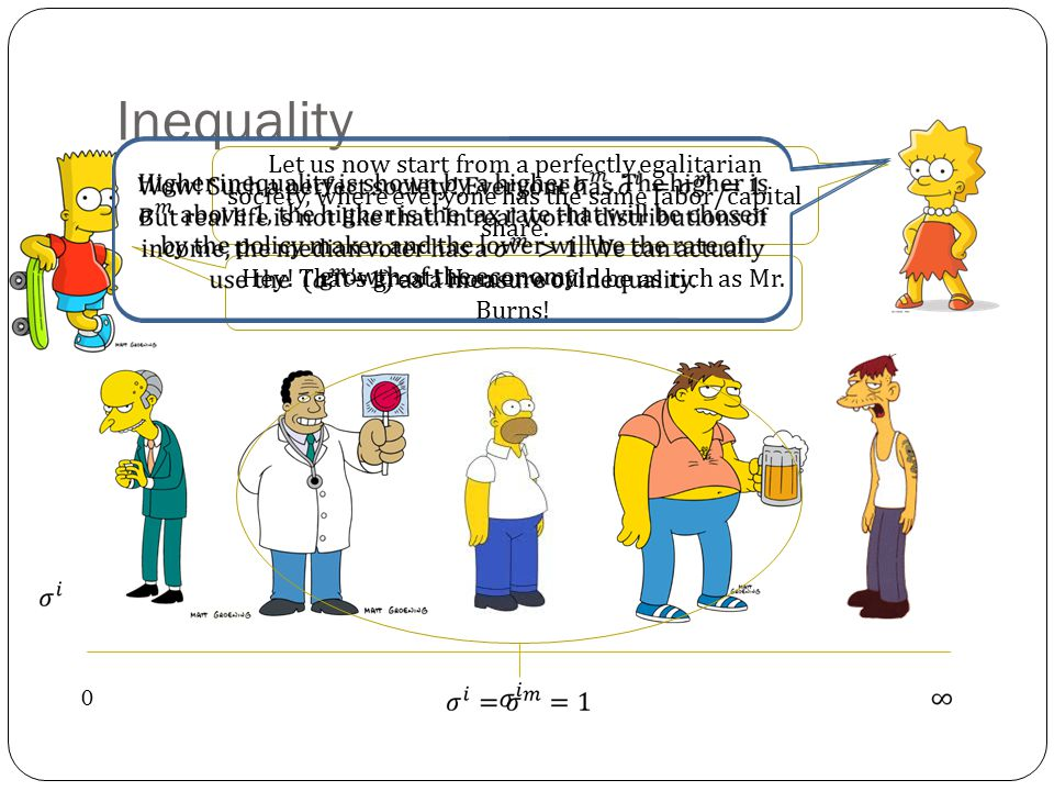 Inequality 0 Principal Skinner is the new median voter.