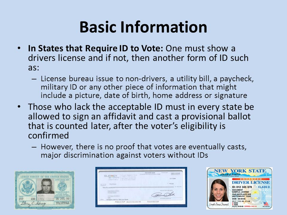 The Cost of Providing Voter's IDs These photo ID requirements are costly and being proposed while states are slashing government jobs and vital funding to important programs in education to make ends meet.