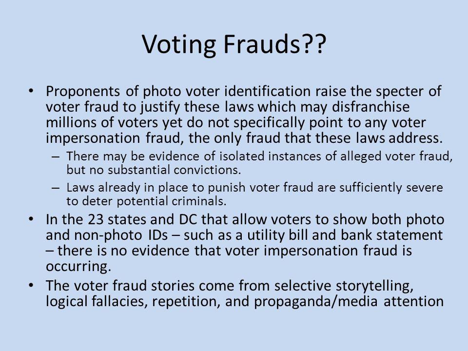 Voting Frauds .