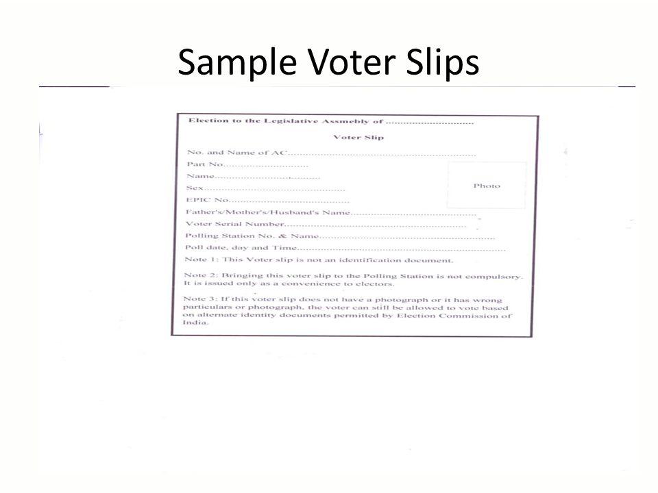 Sample Voter Slips 31