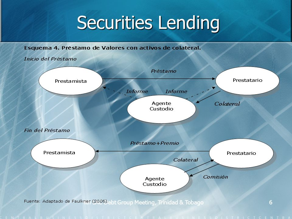 4th LAC Debt Group Meeting, Trinidad & Tobago6 Securities Lending