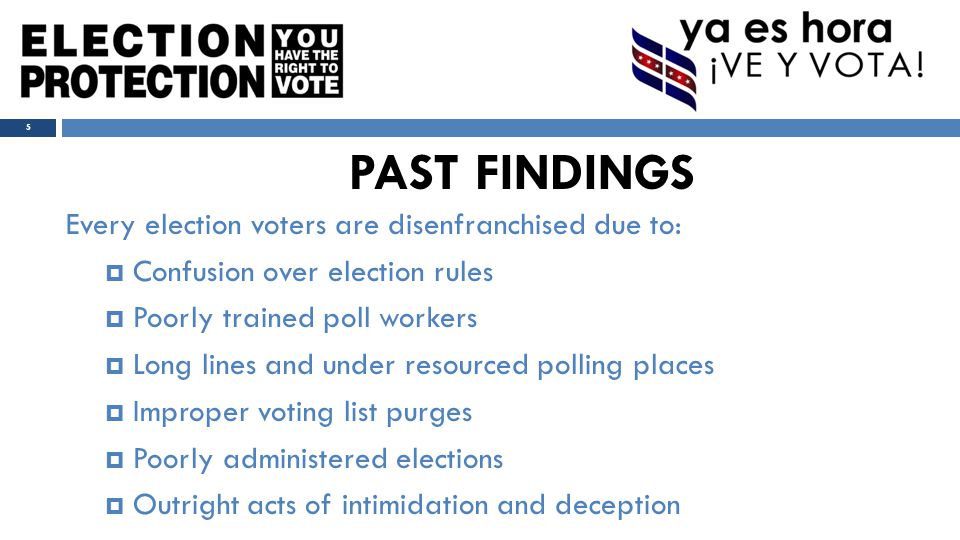  Potential Issues:  Individual can't vote because of felony conviction.