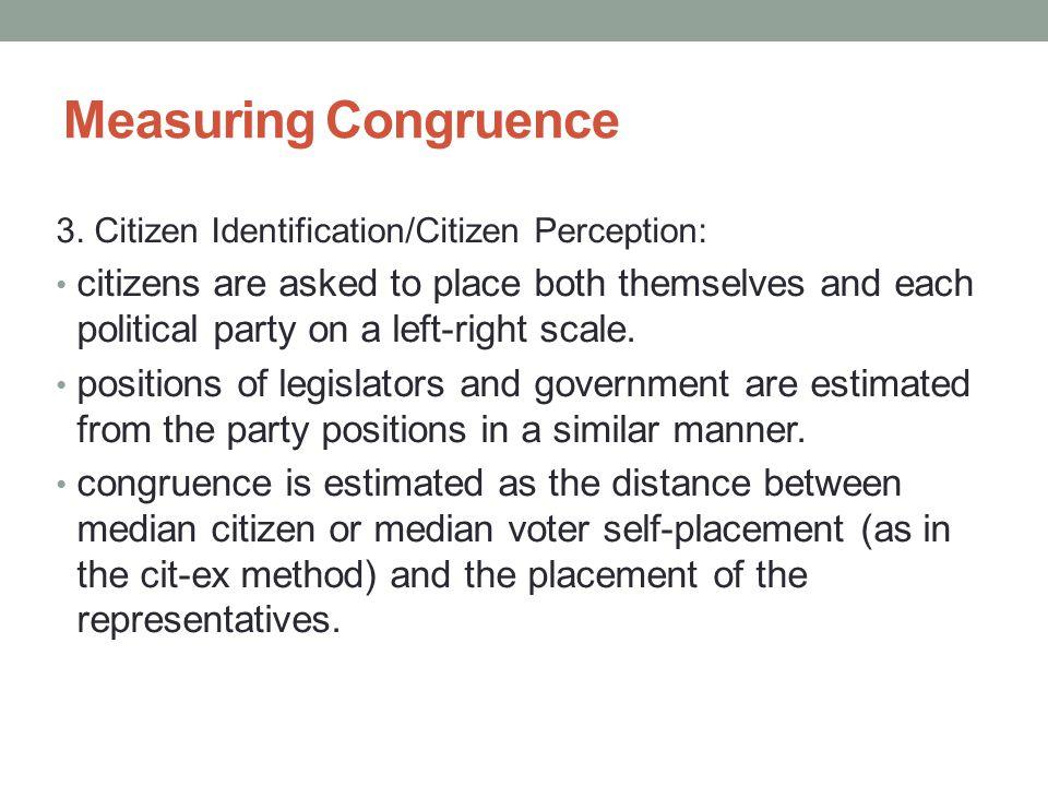 Measuring Congruence 3.