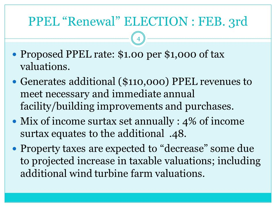 What purchases are allowed with PPEL Funds.