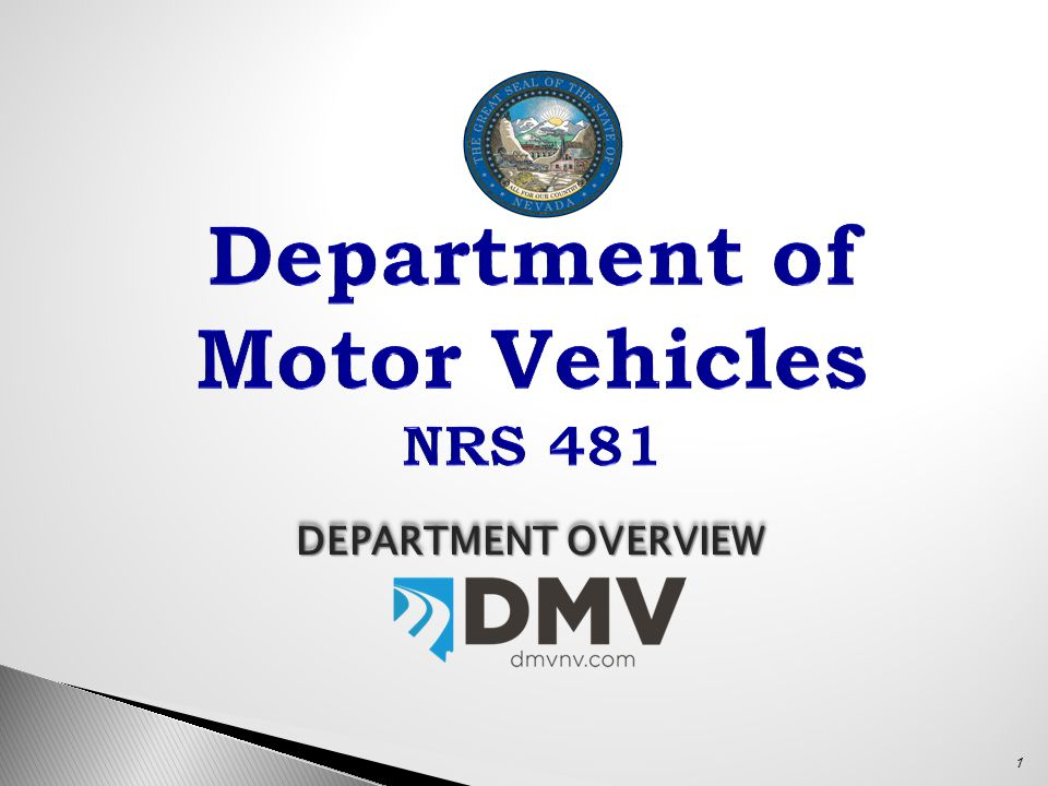 Director's Office: Troy Dillard, DMV Director 775-684-4490tdillard@dmv.nv.gov Rhonda Bavaro, Deputy Director 775-684-4793rbavaro@dmv.nv.gov Emily Nunez, Management Analyst 775-684-4678enunez@dmv.nv.gov Charlene Peters, Executive Assistant 775-684-4955cpeters@dmv.nv.gov Administrators: Nancy Wojcik, Field Services 702-486-8655nwojcik@dmv.nv.gov Amy McKinney, Administrative Services 775-684-4501amckinney@dmv.nv.gov Sean McDonald, Central Services 775-684-4934smcdonald@dmv.nv.gov Mark Froese, Information Technology 775-684-4578mfroese@dmv.nv.gov Terri Albertson, Management Services 775-684-4562talbertson@dmv.nv.gov Donnie Perry, Compliance Enforcement 775-684-4782dperry@dmv.nv.gov Wayne Seidel, Motor Carrier 775-684-4786wseidel@dmv.nv.gov 22