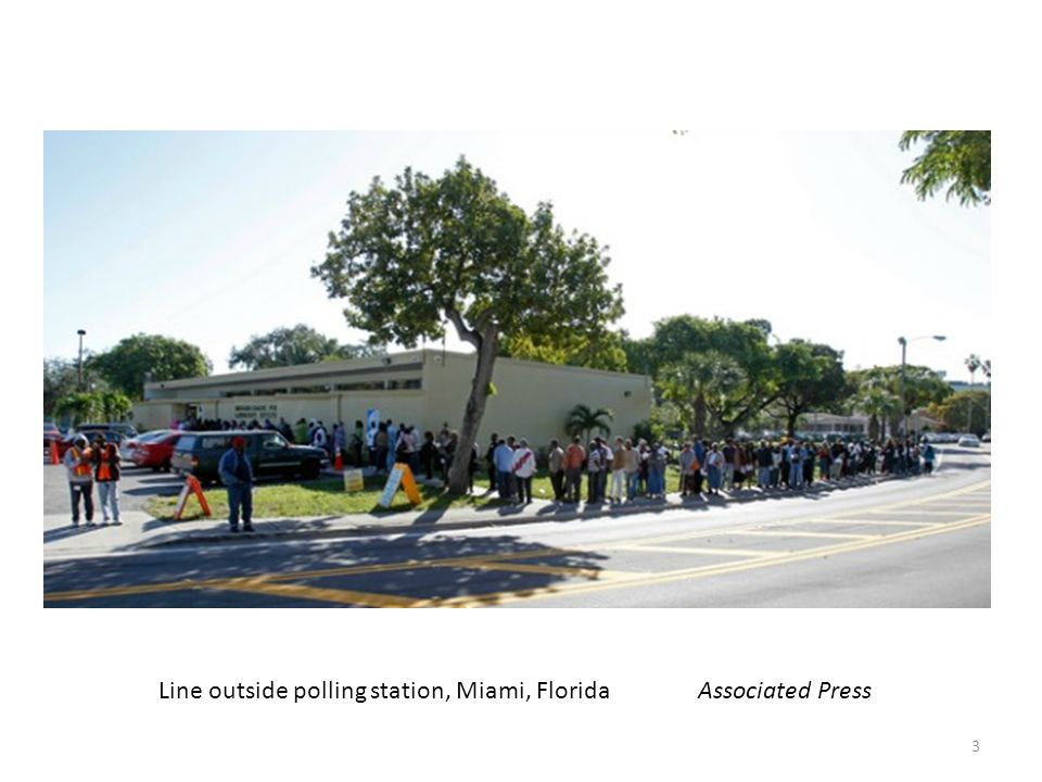 Line outside polling station, Miami, Florida Associated Press 3