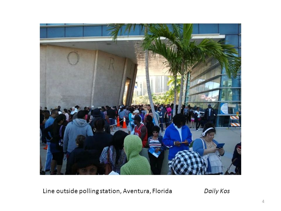 Line outside polling station, Aventura, Florida Daily Kos 4