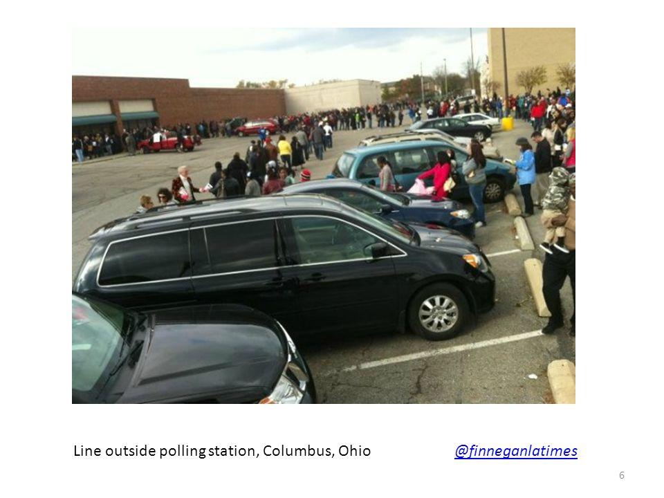 Line outside polling station, Columbus, Ohio @finneganlatimes@finneganlatimes 6