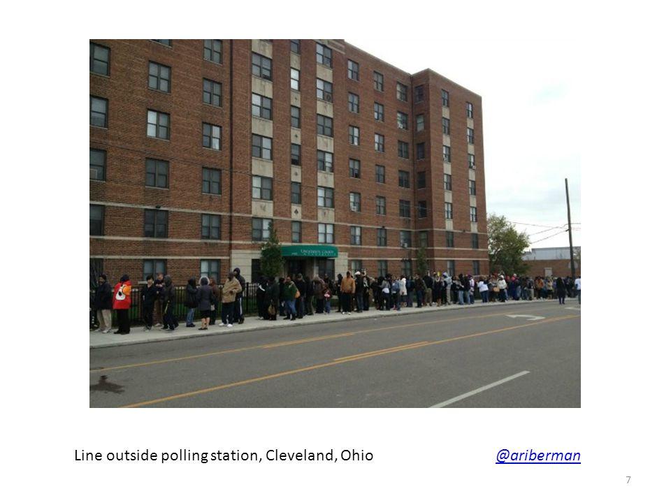 Line outside polling station, Cleveland, Ohio @ariberman@ariberman 7