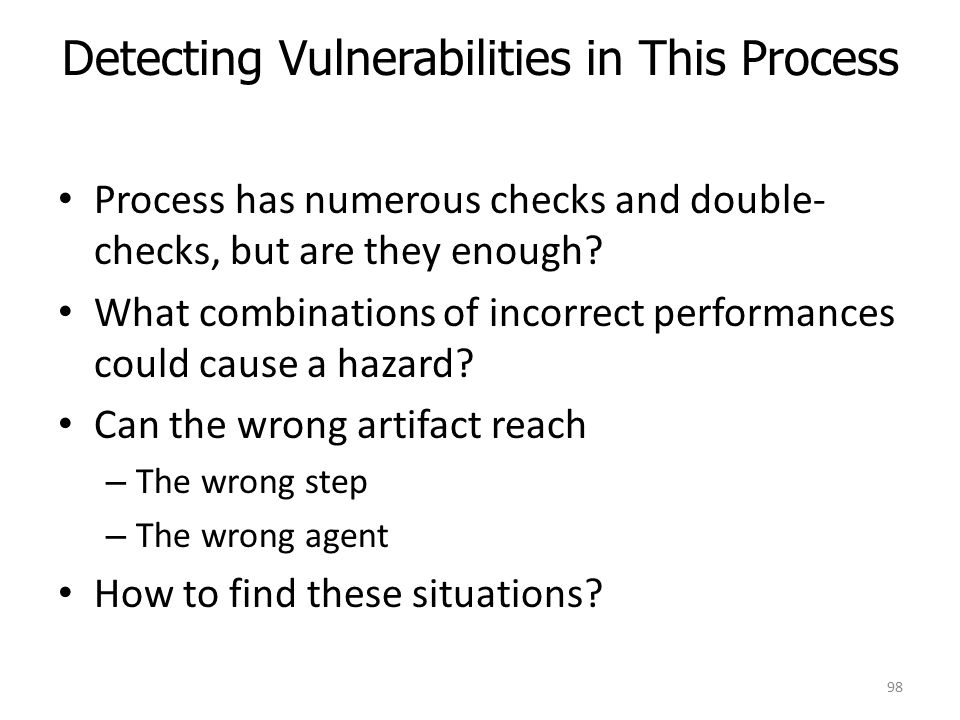 Detecting Vulnerabilities in This Process Process has numerous checks and double- checks, but are they enough.