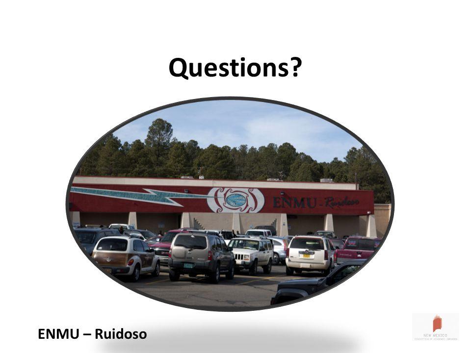 Questions ENMU – Ruidoso